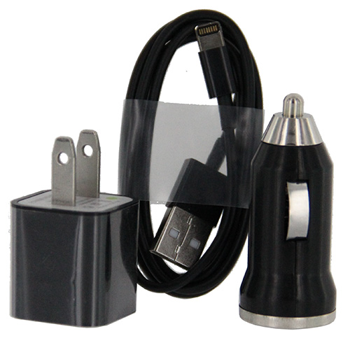 Car & Home Cable Adapter iP6 (3-in-1) Black