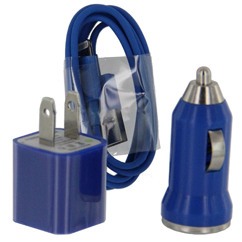 Car & Home Cable Adapter iP6 (3-in-1)  Blue