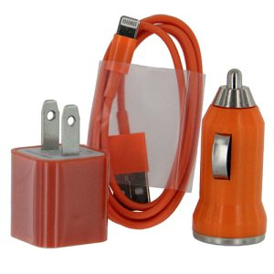 Car & Home Cable Adapter iP6 (3-in-1)  Orange