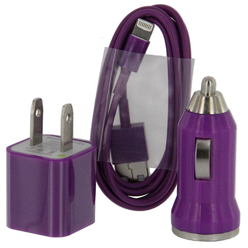 Car & Home Cable Adapter iP6 (3-in-1)  Purple