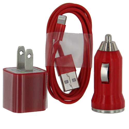 Car & Home Cable Adapter iP6 (3-in-1)  Red