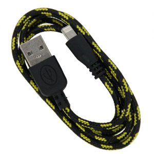 Braided 3' Cable- 8 pin BLACK