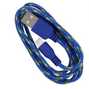 Braided 3' Cable- 8 pin BLUE