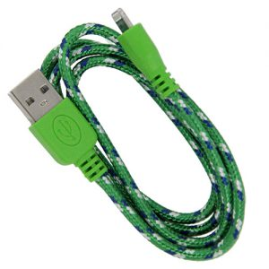 Braided 3' Cable- 8 pin GREEN