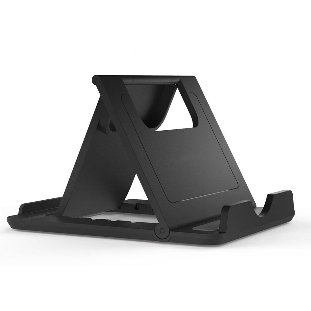 Portable Fold up Rubber Stands Holder Black