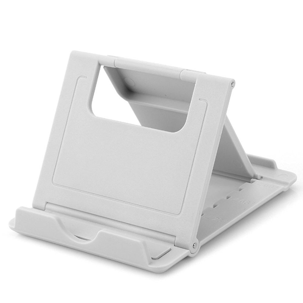 Portable Fold up Rubber Stands Holder White