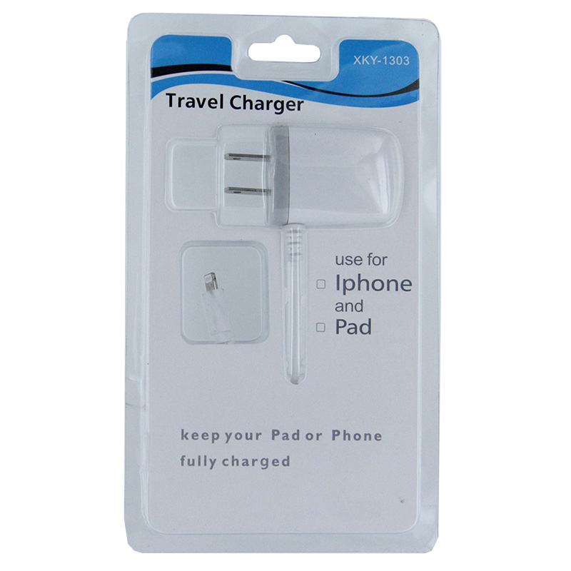 Home and Travel 8 pin Charger- WHITE [E250]