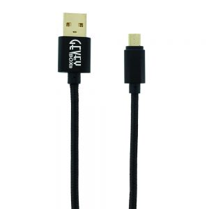 Braided Metal 5Ft Cable- Micro BLACK