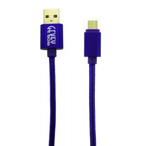 Braided Metal 5Ft Cable- Micro PURPLE